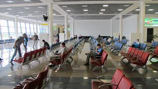 The waiting room in a clean area of the airport of Vladivostok