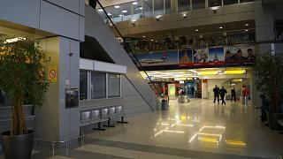 In terminal 2 of Belgrade airport Nikola Tesla