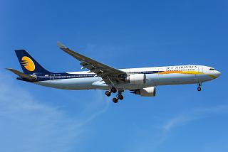 Самолет Airbus A330-300 VT-JWT авиакомпании Jet Airways