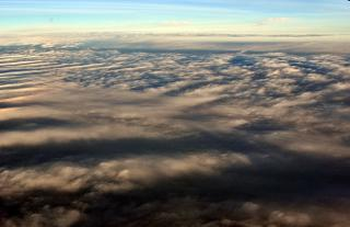 Clouds over the Atlantic ocean