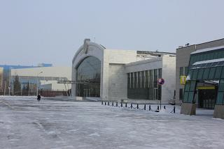 The presidential terminal at the airport of Astana