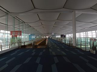 Gallery with boarding gates in the airport's terminal 2 at Tokyo Haneda