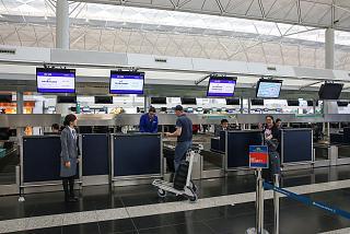 Стойки регистрации в Терминале 1 аэропорта Гонконг