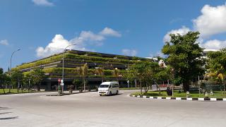 Car Parking at the airport of Denpasar Ngurah Rai international