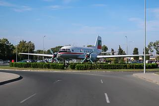 Aircraft monument Il-14 at Burgas airport