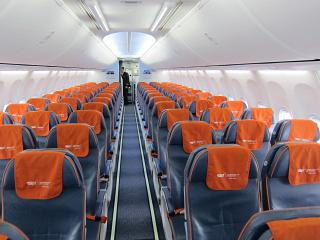 "The economy class cabin in Boeing-737-800 of airline ""Aeroflot"""