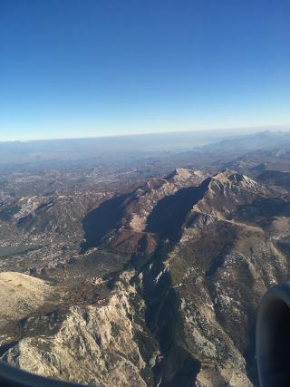 In flight over Montenegro
