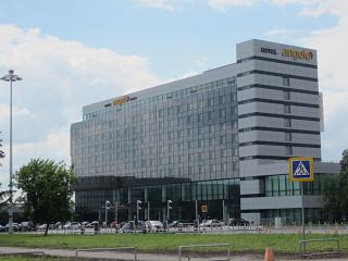 The Angelo hotel on the forecourt of the airport Koltsovo