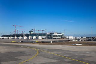Construction of the new terminal at Munich airport