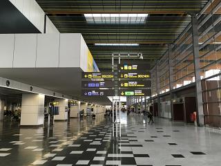 Inside the passenger terminal of the airport of Las Palmas de Gran Canaria