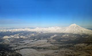 In flight over Kamchatka