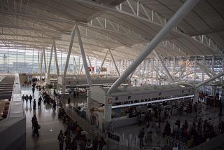 The South wing of the departure area of Fukuoka airport
