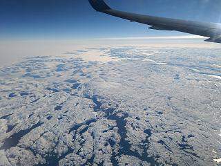 In flight over Greenland