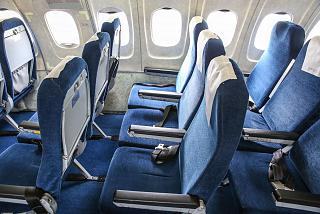 "The passenger seats in the airplane Tu-154 of airline ""Belavia"""