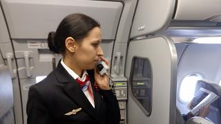 "The stewardess of airline ""Ural airlines"""