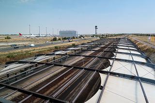 Железнодорожная станция в аэропорту Лейпциг-Галле