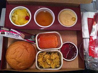 Kosher meal on a flight of Aeroflot Moscow-Ulan-Ude