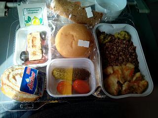 Питание на рейсе авиакомпании Трансаэро Владивосток-Москва