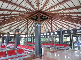 The waiting room in a clean zone of terminal 2 of airport Jakarta, Soekarno-Hatta
