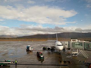 The tarmac of the airport of San Carlos de Bariloche