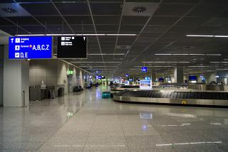 Baggage claim in terminal 2 of the airport Frankfurt am main