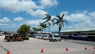The domestic terminal of the airport of Port Vila