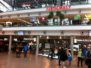 Airport Plaza in terminal 1, Hamburg airport