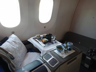 Business class on the Boeing-787-8 airline LOT