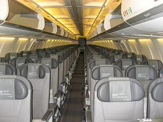 The cabin of the aircraft Boeing-757-200 Icelandair