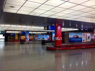 Зал выдачи багажа в терминале 1 аэропорта Хельсинки Вантаа