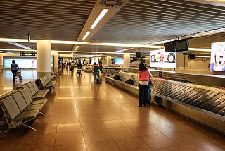 The baggage claim area in pier B at Brussels airport