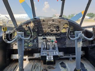 The cockpit in the plane An-2