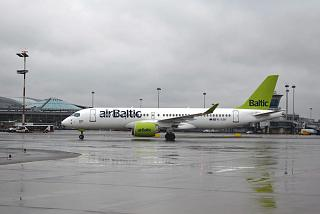 CS300 Bombardier airBaltic flights at Sheremetyevo airport