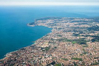 View of the city of Cascais and the coast of the Atlantic Ocean