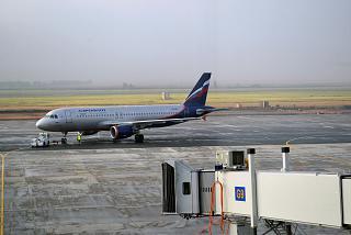 Airbus A320 of Aeroflot at the airport, Samara Kurumoch
