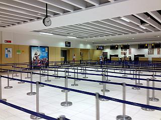 Hall check-in for flights at the airport of Paphos