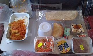 Food on the flight Novosibirsk-Phuket airlines North wind