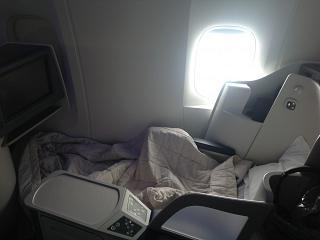 Пассажирское место бизнес-класса в самолете Боинг-777-300 Аэрофлота