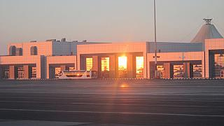 The terminal of the airport of Hurghada