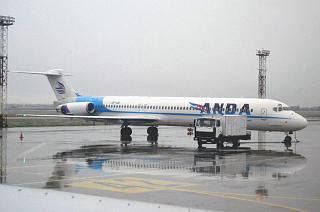 Douglas MD-83 airline Anda Air at Boryspil airport