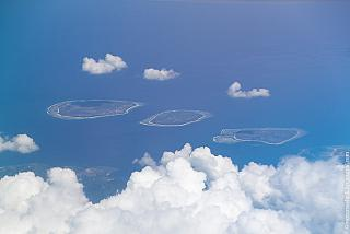 In flight over the Gili Islands in Indonesia