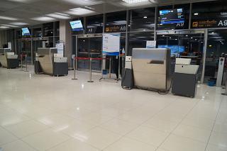 The gates in the airport Bangkok Suvarnabhumi
