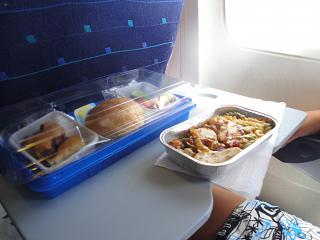 Food on the flight AI fly Antalya-Krasnoyarsk