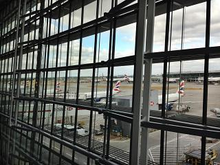 Terminal 5 of Heathrow airport in London