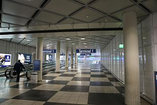 The entrance to the terminal 1 of Munich airport