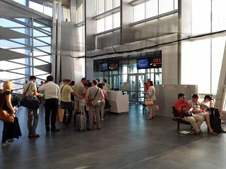 The gate in the new terminal of Pulkovo airport