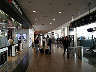 In the clean area of airport Buenos Aires, Jorge Newbery