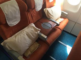 Business class in the Airbus A319 operated by Air Mauritius