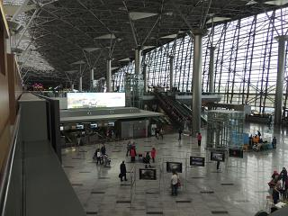 In terminal A of Vnukovo airport