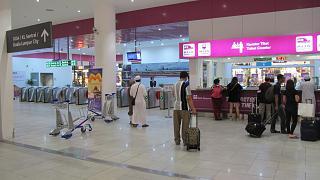 Вход на станцию Аэроэкспресса в лоукост-терминале KLIA2 аэропорта Куала-Лумпур